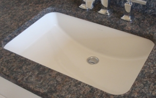 Sink fixture with marble counter