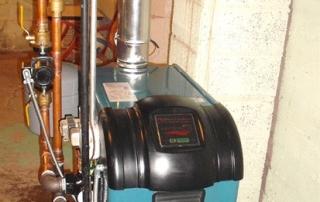 new installed boiler system