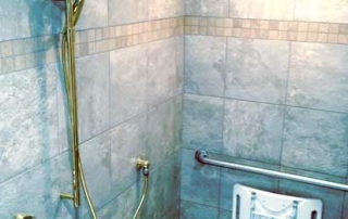 Shower remodel in home for easy accessibility