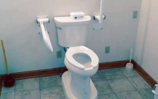 Toilet fixture in Age in Place building