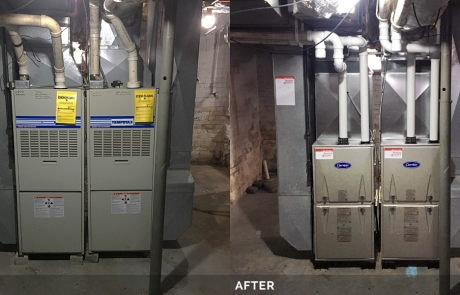 Before & After - Furnace Replacement