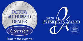 Carrier Factory Authorized Dealer Logo - Carrier 2020 President's Award