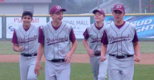 Sheboygan Diamonds Youth Baseball team members