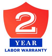 2-Year Labor Warranty