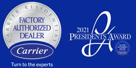 Carrier Factory Authorized Dealer Logo - Carrier 2021 President's Award